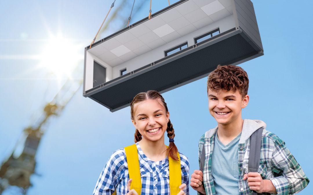 Bildungseinrichtungen gebaut aus Modulen
