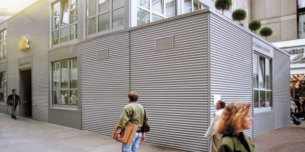 Containerbau in Modulbauweise als Buerogebaeude