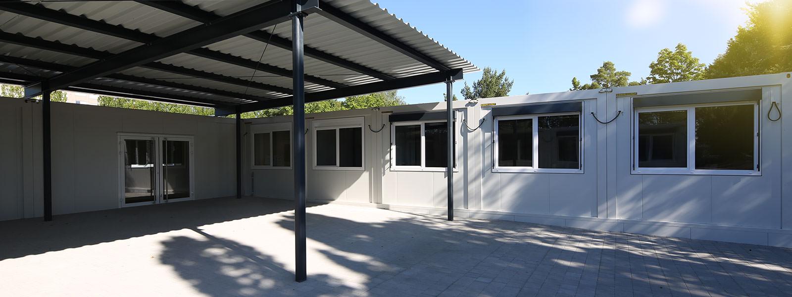 Neue Klassenzimmer in Systembauweise