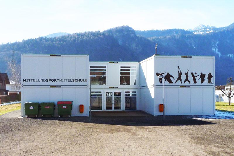 Temporäre Übergangslösung für Grundschule in Nüziders und Bürs, Österreich