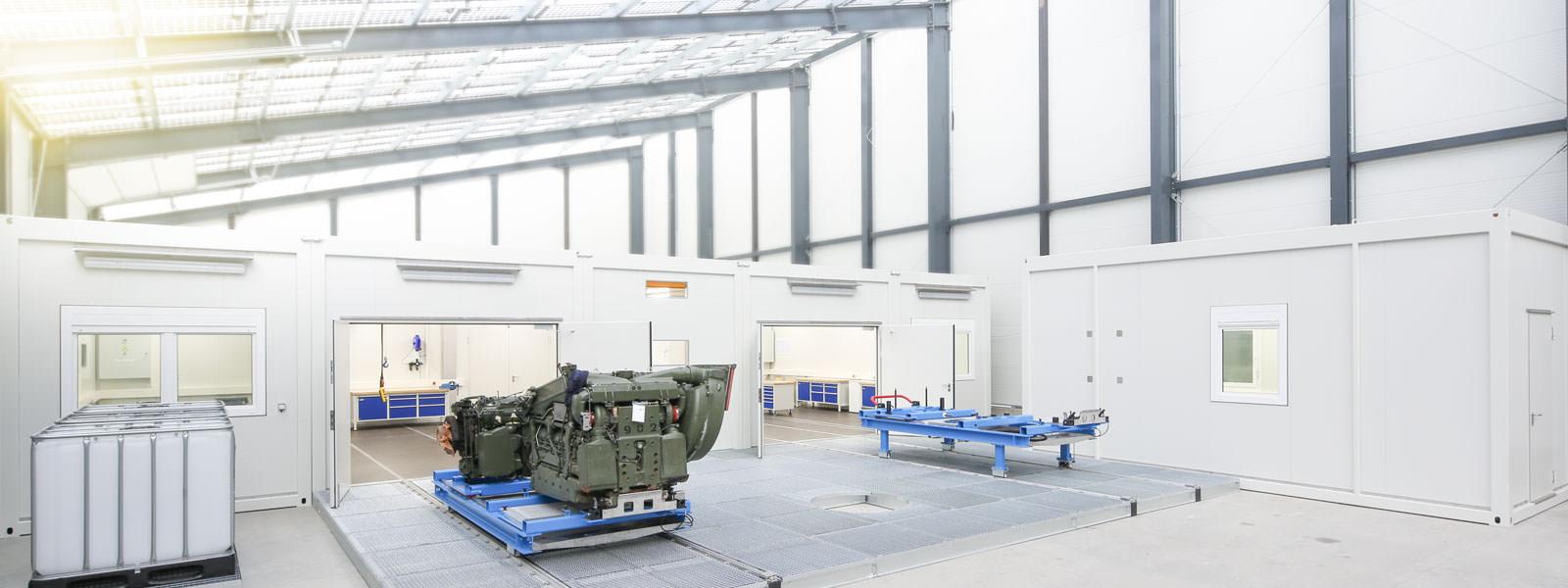Weltweit einsetzbare Werkstattcontainer von Eberhardt