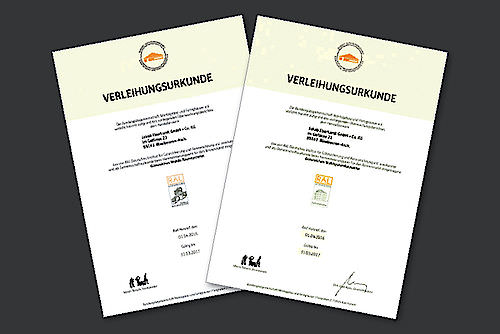 Unsere neuen Zertifikate sind da