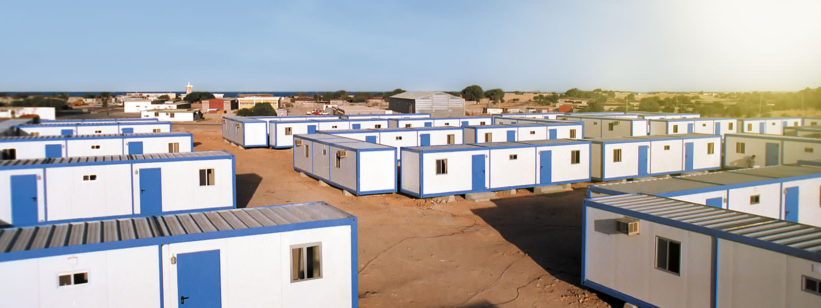 Mietcontainer und Raummodule als Baustellenwohnheim