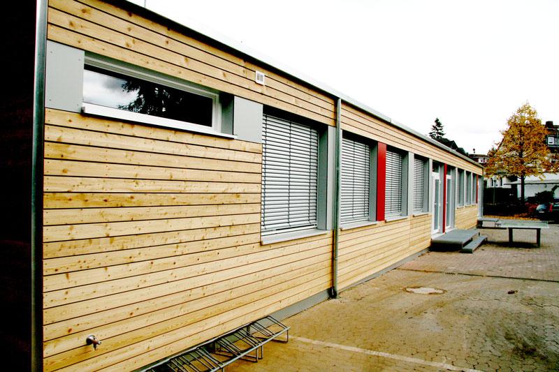 Bedarfsgerechte Kindertagesstätte für Ganztagsbetreuung aus Mietcontainer