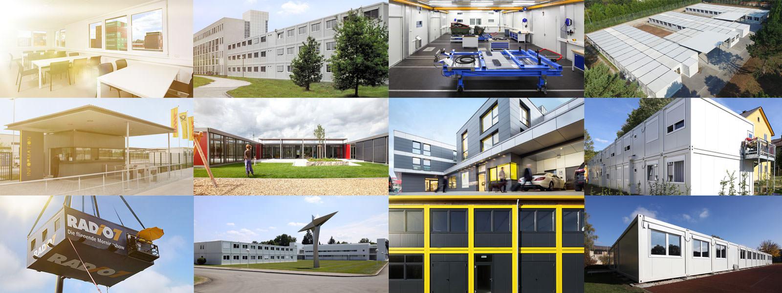Containergebaeude und Bauprojekte in Systembauweise von EBERHARDT