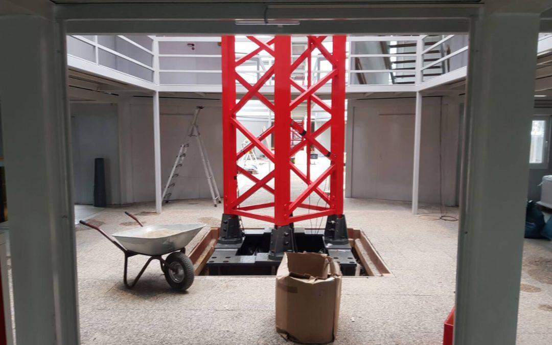 Messestand aus Containern: Nagel auf der bauma 2019